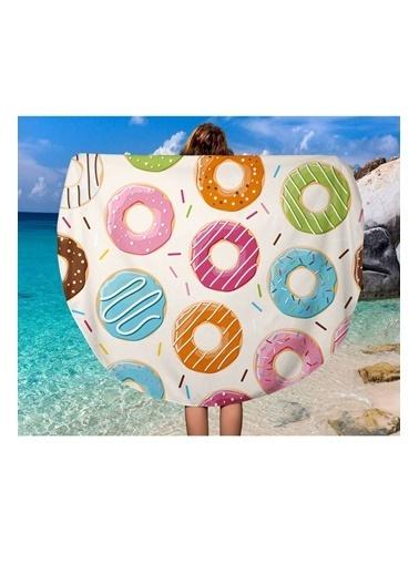 Lyn Home & Decor Renkli Donutlar Çok Amaçlı Örtü Renkli